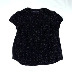 French Connection Tops - Like New French Connection Black Blouse Silk Stars